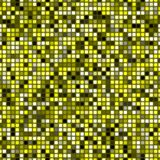 Abstract yellow mosaic tile pattern, Simple tiled texture background, Checked seamless illustration Royalty Free Stock Image