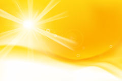 Abstract yellow and orange background with sunlight and flare el. Ement for summer vector illustration eps10 Stock Image