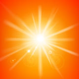 Abstract yellow and orange background with sunlight and flare. Element for summer vector illustration eps10 stock illustration