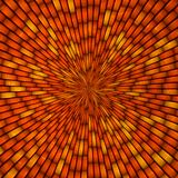 Abstract yellow and orange centrical tiles background Stock Photography