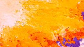 Abstract yellow orange paint background sun splash. Abstract yellow orange color background. Acrylic paint splash similar to sun rays. Liquid fluid smooth rough vector illustration