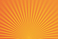 Abstract yellow orange radial background. Bright vector illustration Royalty Free Stock Photography