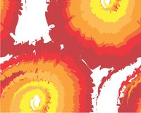 Abstract yellow-orange red movement composition. Fractal art for creative graphic design stock illustration