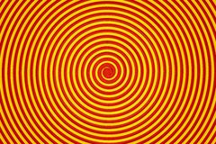 Abstract yellow and orange spiral Stock Image