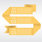 Abstract Yellow Origami Banners. Stock Photography