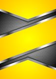 Abstract yellow perforated background with Stock Photo