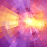 Abstract yellow and pink light circle technology. Mosaic vector background Stock Photography