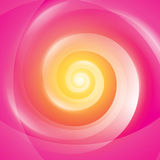 Abstract Yellow Pink Swirl Background. Vector swirling backdrop in yellow pink color Royalty Free Stock Image