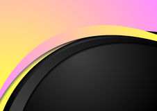 Abstract yellow and pink wavy corporate background Royalty Free Stock Photo