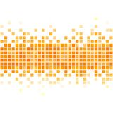 Abstract yellow pixel background. Stock Image