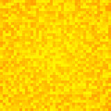 Abstract yellow pixel mosaic seamless background Stock Image
