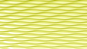 Abstract yellow plastic waves, 3D rendering. Abstract yellow plastic waves 3D rendering Vector Illustration