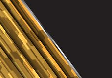 Abstract yellow polygon futuristic design modern futuristic vector background. Illustration royalty free illustration