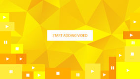 Abstract yellow polygonal geometric background for website. Start adding video. Stock Photo