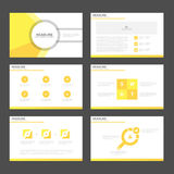 Abstract yellow presentation templates Infographic elements flat design set for brochure flyer leaflet marketing Stock Photography