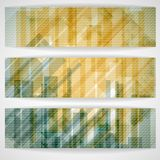 Abstract Yellow Rectangle Shapes Banner. Stock Photography