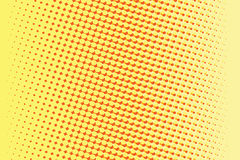 Abstract yellow red gradient pop art retro background Royalty Free Stock Photo