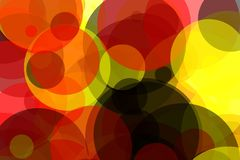 Abstract yellow red grey circles illustration background. Abstract minimalist yellow red black illustration with circles useful as a background, in colours of vector illustration
