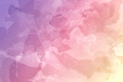 Abstract Yellow, Red and Purple Watercolor Background stock photography