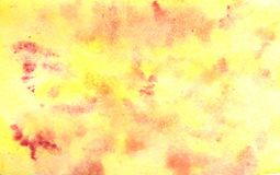 Abstract yellow red watercolor background royalty free stock image