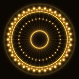 Abstract yellow ring stock photography