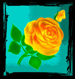 Abstract yellow rose Stock Image
