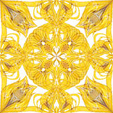 Abstract yellow seamless ornate pattern background Royalty Free Stock Photos