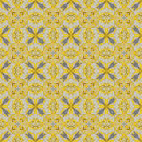 Abstract yellow seamless ornate pattern background Royalty Free Stock Photography