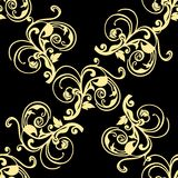Abstract yellow  seamless pattern Royalty Free Stock Photos