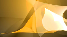 Abstract yellow shapes. Background composition - 3d illustration Royalty Free Stock Image