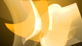 Abstract yellow shapes background composition. 3d illustration Royalty Free Stock Photo