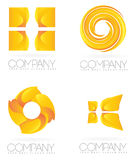 Abstract yellow shapes logo Royalty Free Stock Image