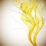Abstract yellow smoke flow Royalty Free Stock Images