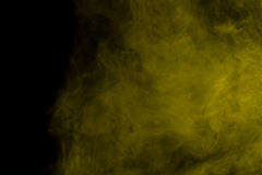 Abstract yellow smoke hookah. royalty free stock image