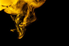 Free Abstract Yellow Smoke Hookah On A Black Background. Royalty Free Stock Photography - 58239957