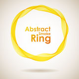 Abstract yellow smoke ring. Design element Royalty Free Stock Photo