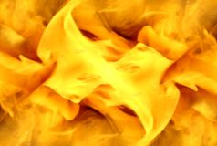 Abstract yellow smoke on white background. royalty free illustration