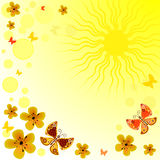 Abstract yellow spring  background Stock Photo