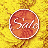Abstract Yellow  Spring Summer Sale colorful banner for business. Royalty Free Stock Images
