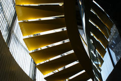 Abstract yellow stairs Stock Photography