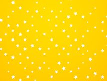 Abstract yellow star background. Modern style royalty free illustration