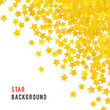 Abstract yellow star background. Vector illustration Royalty Free Stock Photography
