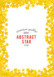 Abstract yellow star background. Vector illustration Royalty Free Stock Photos