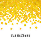 Abstract yellow star background. Vector illustration Stock Photo
