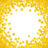 Abstract yellow star background. Vector illustration Royalty Free Stock Photo