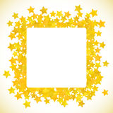 Abstract yellow star background. Vector illustration Stock Photos