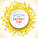 Abstract yellow star background. Vector illustration Stock Photography