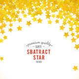 Abstract yellow star background. Vector illustration. For gold design. Golden color. Shiny decoration. Symbol celebration. Holiday award shape. Bright banner Royalty Free Stock Photography