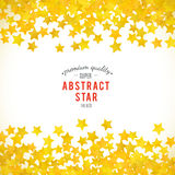 Abstract yellow star background. Vector illustration stock illustration