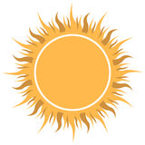 Abstract yellow sun Royalty Free Stock Image